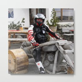 On the Motorbike trough AUSTRIA 05 Fun Metal Print