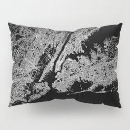 New York map Pillow Sham