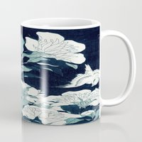 japanese Mugs featuring JAPANESE FLOWERS by PureVintageLove
