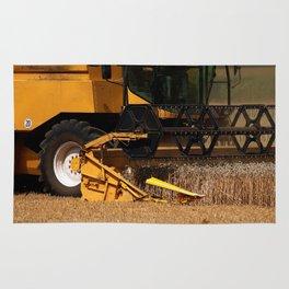 Combine harvester in detail Rug