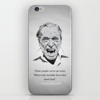 bukowski iPhone & iPod Skins featuring Bukowski by MSB Art!