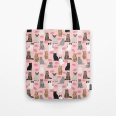 Cats with donuts cute cat breeds cat portraits pet portrait cat lady hipster gifts sprinkle donut Tote Bag