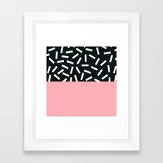Memphis pattern 24 Framed Art Print