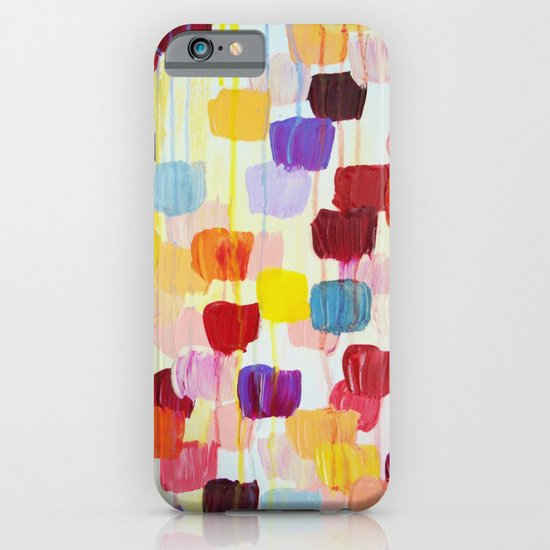 DOTTY - Stunning Bright Bold Rainbow Colorful Square Polka Dots Lovely Original Abstract Painting iPhone & iPod Case