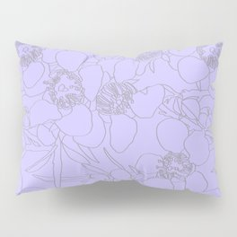 Australian Waxflower Line Floral in Lilac Pillow Sham