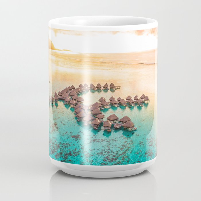 Bora bora Tahiti honeymoon beach resort vacation Coffee Mug