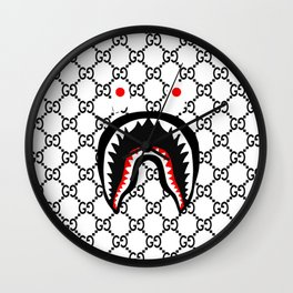 bape shark Wall Clock