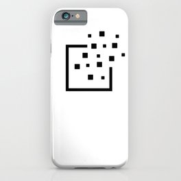 Pixels leaving the borders. Without Borders. iPhone Case