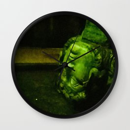 My head in thought. Wall Clock