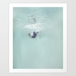 Woman Falling In Art Print