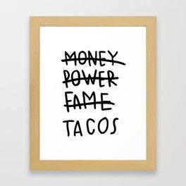 Taco Lyfe Framed Art Print