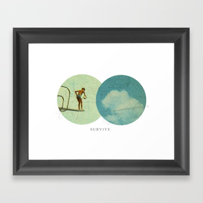 Survive | Collage Framed Art Print