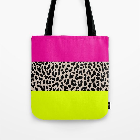 Leopard National Flag X Tote Bag