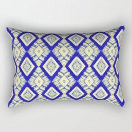 casa blanca in blue Rectangular Pillow