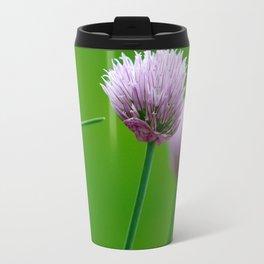 Macro Chive Blossoms 1 Travel Mug