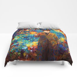 10th Doctor with screwdriver abstract art Comforters