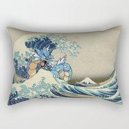 The Great Wave Off Gyarados Rectangular Pillow