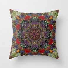 Hallucination Mandala 3 Throw Pillow