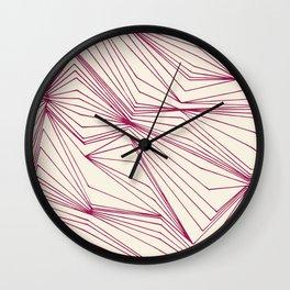 Zig Zag Lines Pink Wall Clock