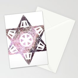 Metatron's Cube Time Wheel ~ New Orion Stationery Cards