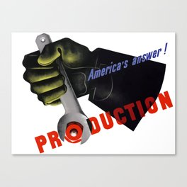America's Answer! Production Canvas Print