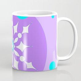 A Lavender and Aqua Snowflake Design Coffee Mug