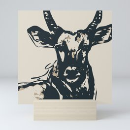 Antelope in Charcoal Black Mini Art Print