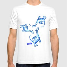 Daily Doodles - Blue dragons White Mens Fitted Tee MEDIUM
