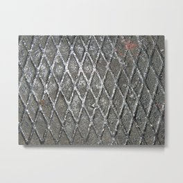 Texture of railway transport on locomotive and wagons Metal Print