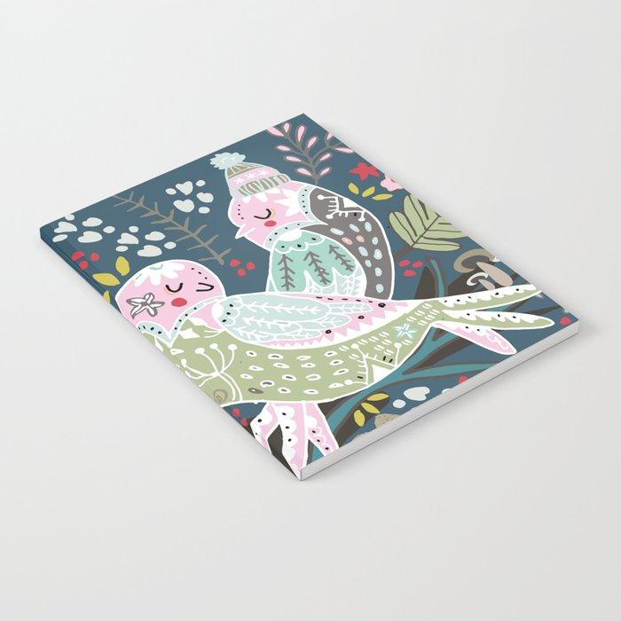 Holiday Birds Love Notebook