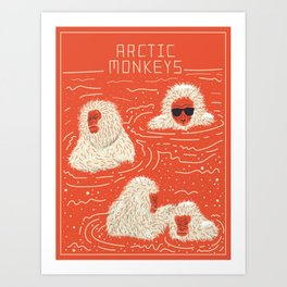 Actual Arctic Snow Monkeys Art Print