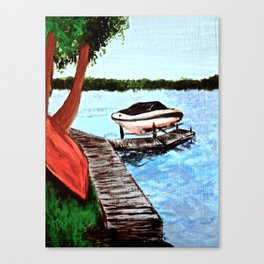 Dockside View Canvas Print
