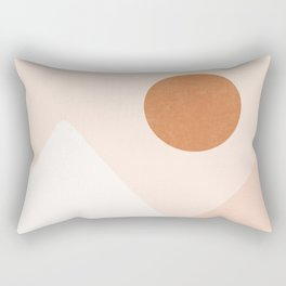 Warm Neutral mountain sun Rectangular Pillow