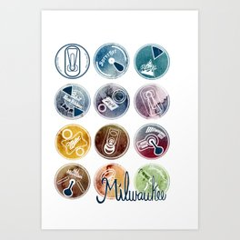 Milwaukee Beer Art Print