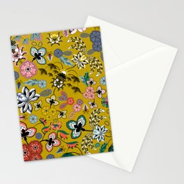 BOHO Indienne (Mustard) Stationery Cards