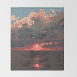 Sea break Throw Blanket