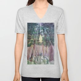 236 (Some Keep The Sabbath) With Virginia Bluebells Unisex V-Neck