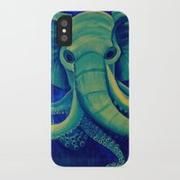 cthulu iPhone & iPod Cases featuring Octophant by Minxi