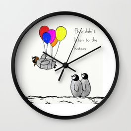 To be a Flying Penguin Wall Clock
