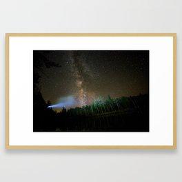 Milky way on washbowl 2 Framed Art Print