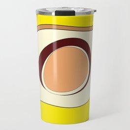 Abstract banana and egg - digital art fantasy on a blue background Travel Mug