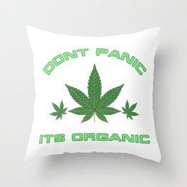 Its Organic Marijuana Leaf Trio Throw Pillow