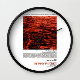 Movie Poster: The End of Evangelion v2 Wall Clock