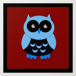 Vintage Vector Smart Owl Art Print