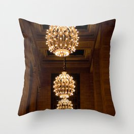 Grand Central Station Lights Throw Pillow