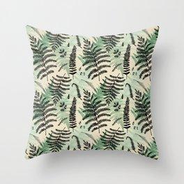 Fern Pattern 1 Throw Pillow