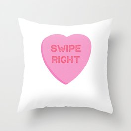 Swipe Right Valentines Day Dating App  Throw Pillow