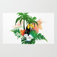 toucan Area & Throw Rugs featuring Toucan by nicky2342