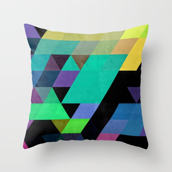 Qy^dyne Throw Pillow