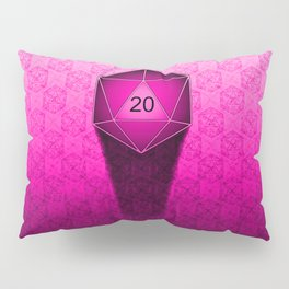 D20 All I Do Is Crit!  Hot Pink Ombre Pillow Sham